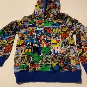 H&M Marvel Comics Hoodie Size 8-10
